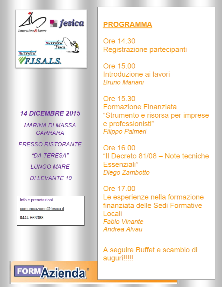WORKSHOP 14 DICEMBRE